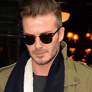 bc6b3ffb35 David Beckham in Ray-Ban RB3016 Clubmaster Sunglasses - Celebrity ...