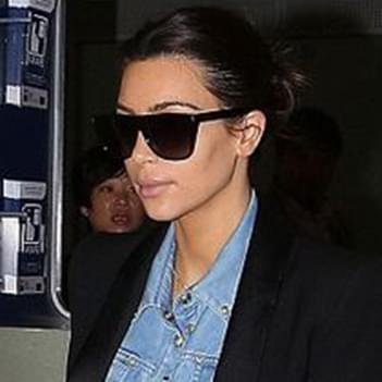 9ff8b07992b Kim Kardashian in Celine Matrix Sunglasses – Celebrity Sunglasses ...