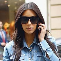 51d3d7d2252 Kim Kardashian in Celine CL41066 s Sunglasses – Celebrity Sunglasses ...